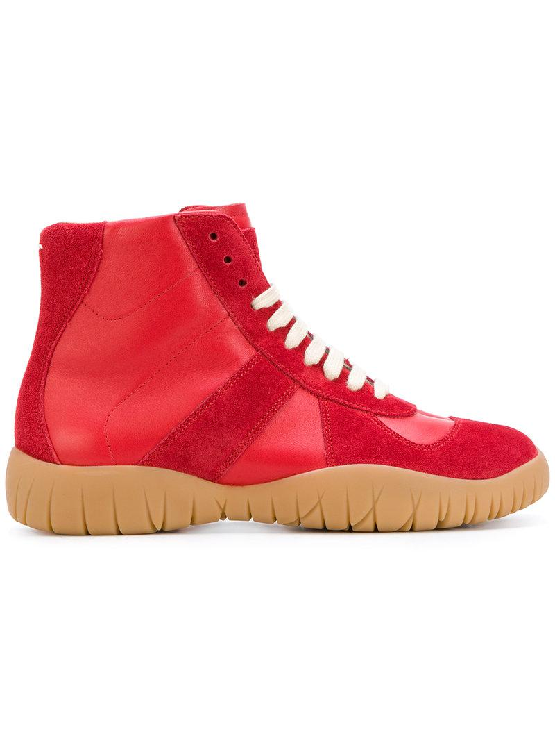 platform lace-up sneakers - Red Maison Martin Margiela L2I2Wz