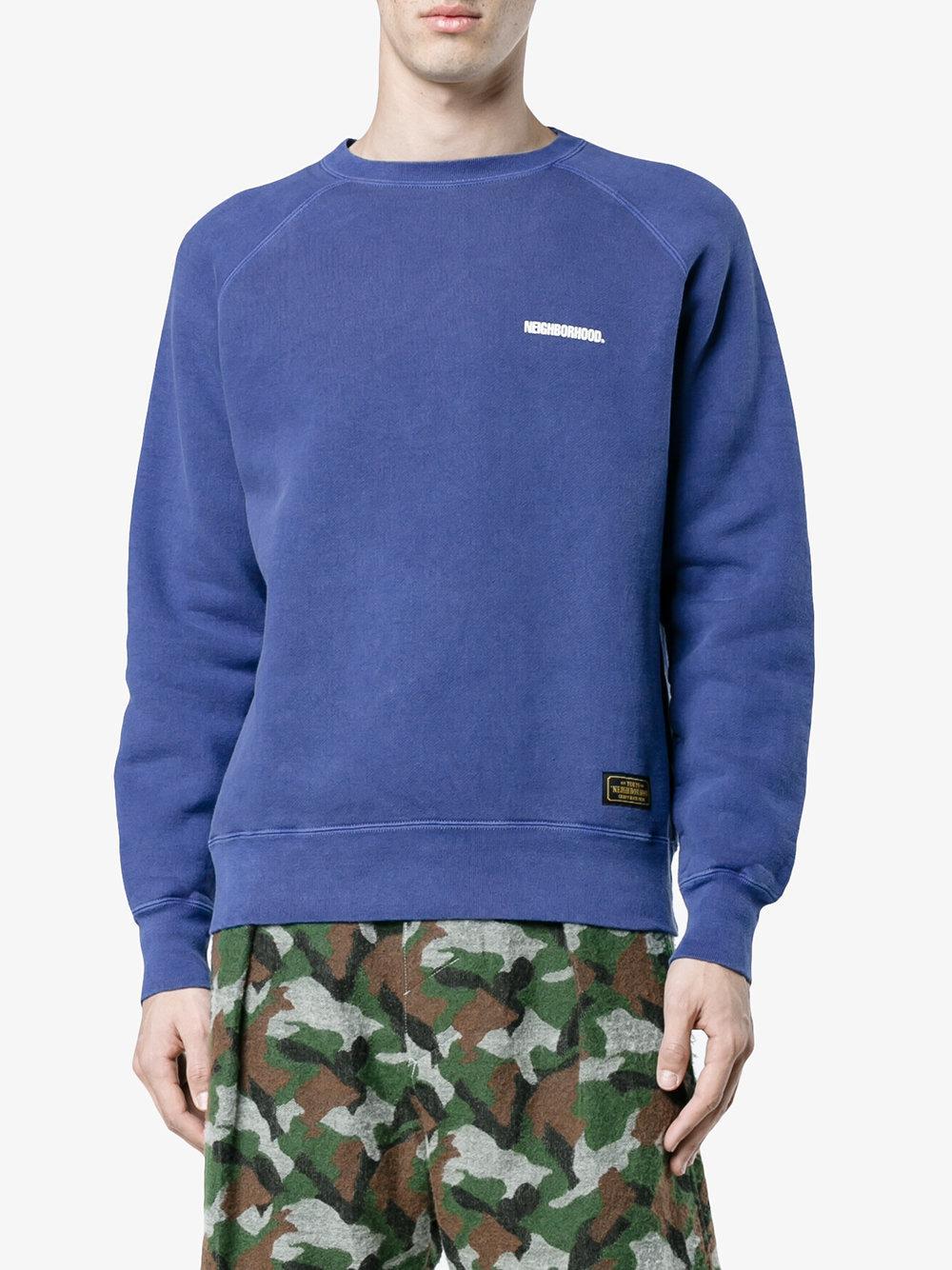 Neighborhood Logo Print Sweatshirt in Blue for Men - Save 4% | Lyst