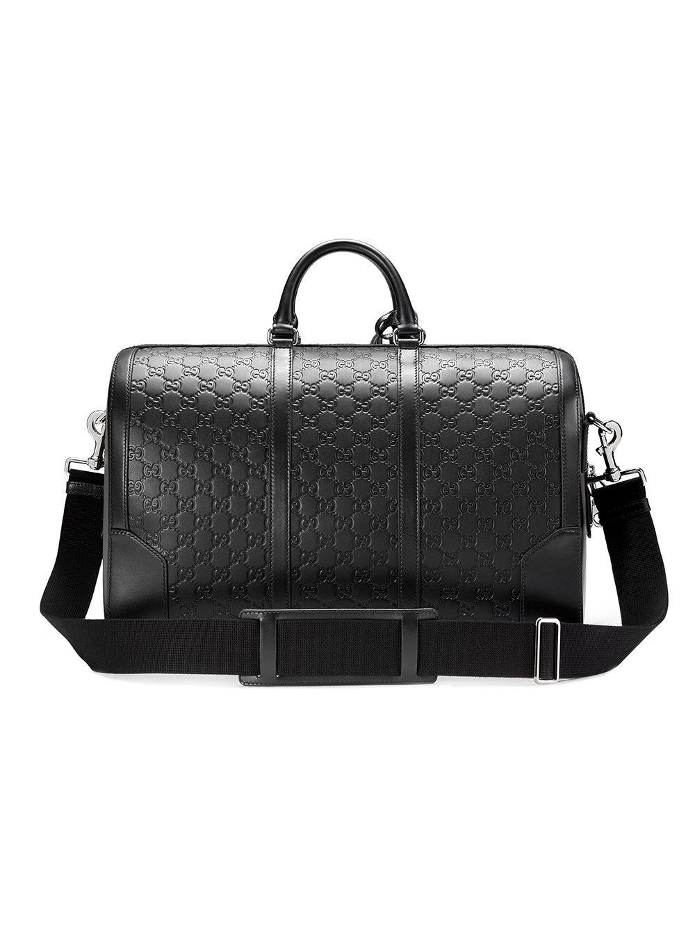 7ab1563e2f32 Gucci - Black Borsa Da Viaggio In Pelle Signature for Men - Lyst. View  fullscreen