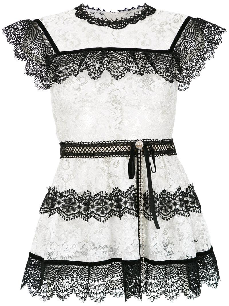 a03be3cdf5648f Martha Medeiros Pitty Lace Blouse in White - Lyst