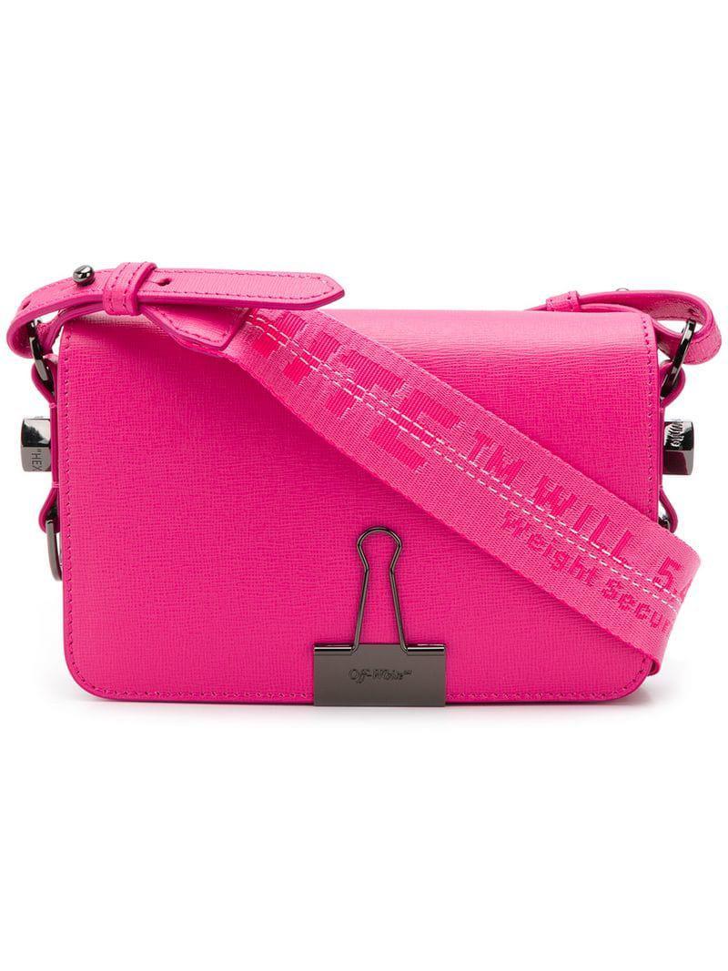 6d9fe16e0770 Lyst - Off-White c o Virgil Abloh Binder Clip Shoulder Bag in Pink