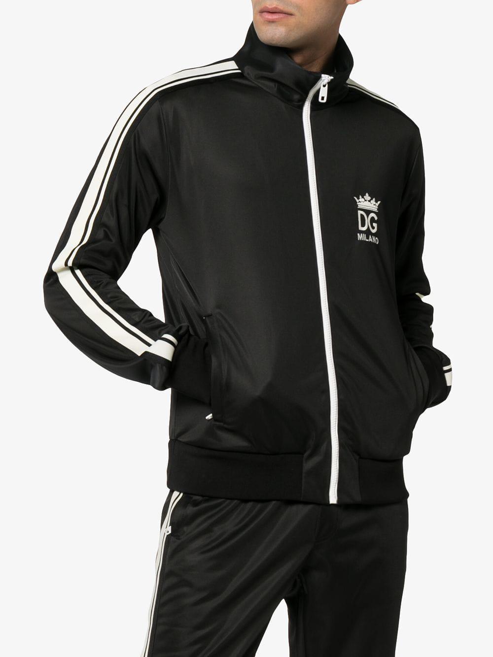 Zipped Sweatshirt Gabbana For Dolce Stripe amp; Detail In With Black wvAn1q7gx