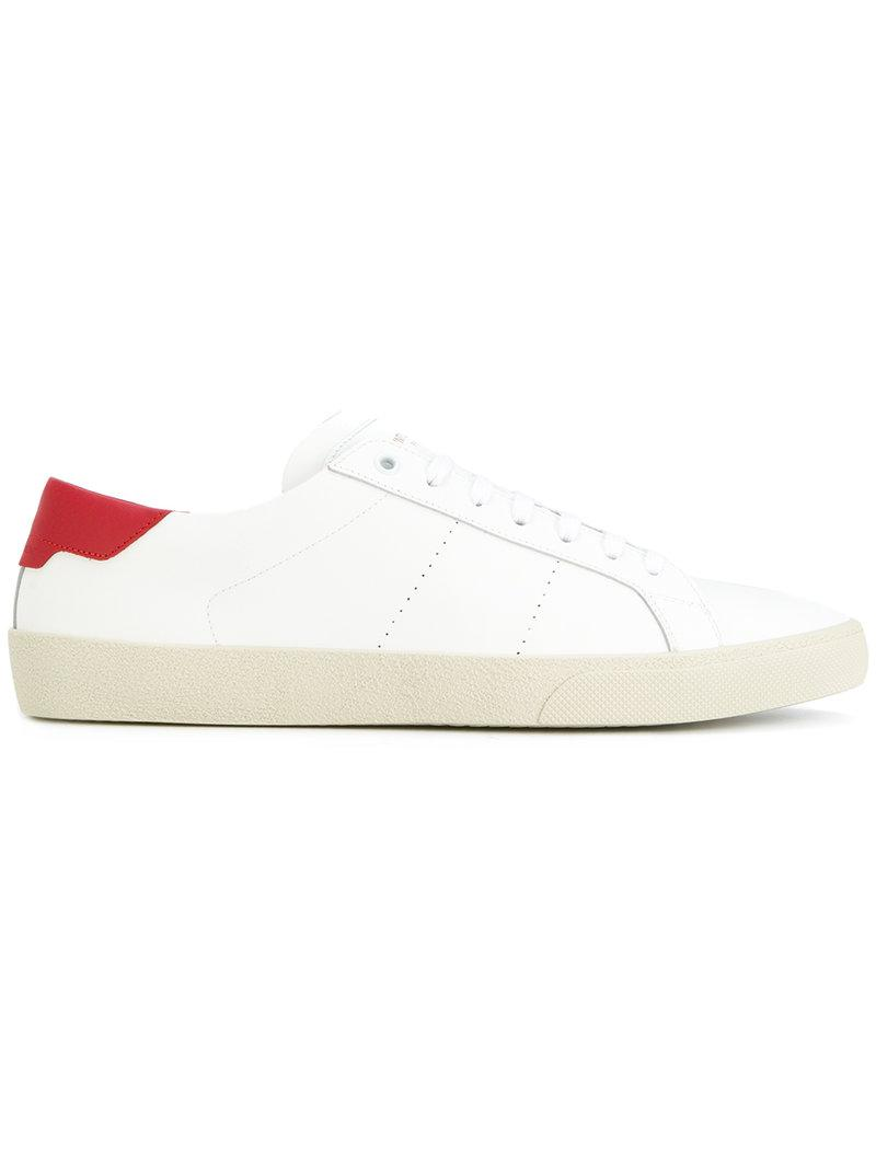 d8cd0138f672 Lyst - Saint Laurent Court Classic Sneakers in White for Men - Save 24%