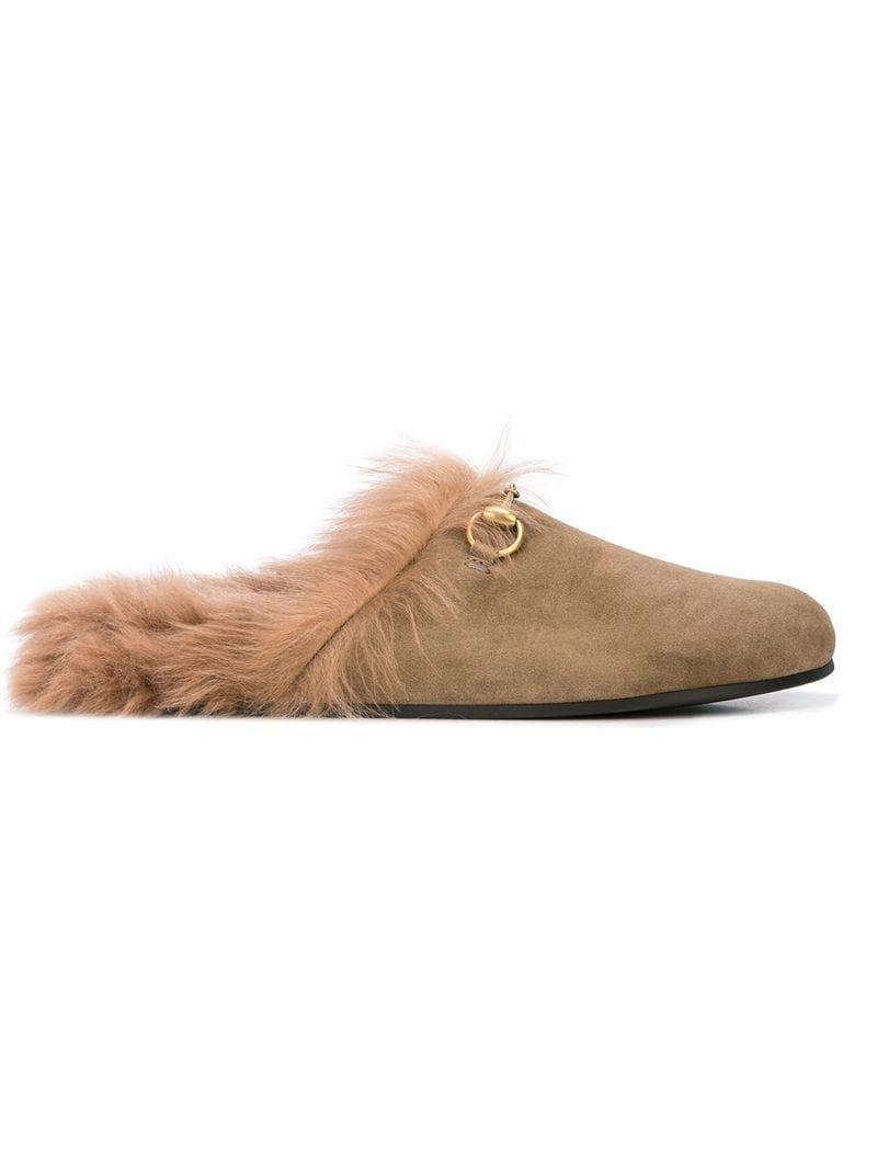 e7885bc35 Gucci Faux Fur Loafers in Brown for Men - Lyst