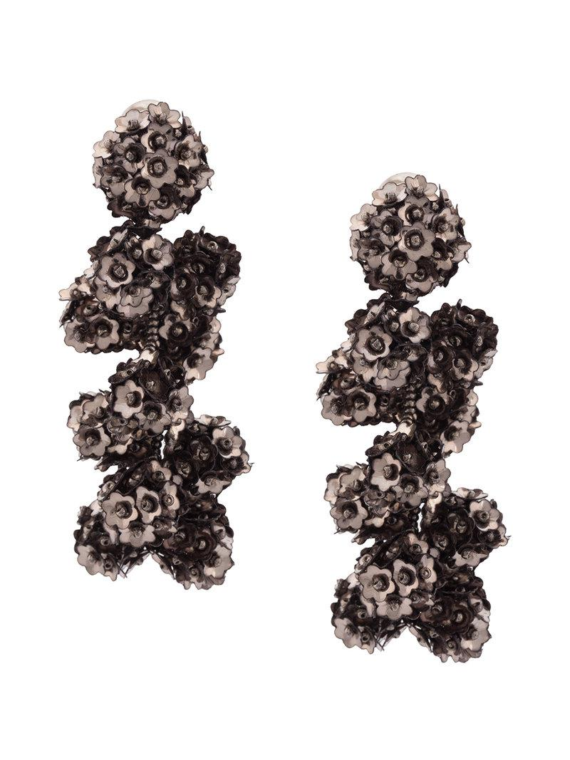 Fleur Coconuts clip-on earrings - Metallic Sachin & Babi JyiUhFc1x