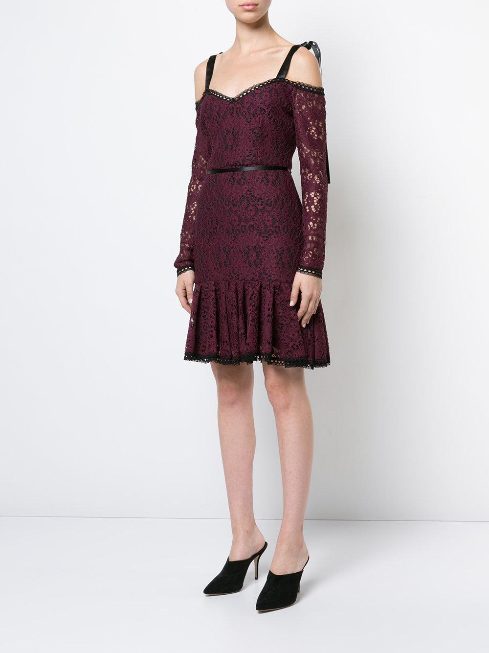 lace mini dress with tie straps - Pink & Purple Alexis Official Online Online Cheap Price qyNnFf