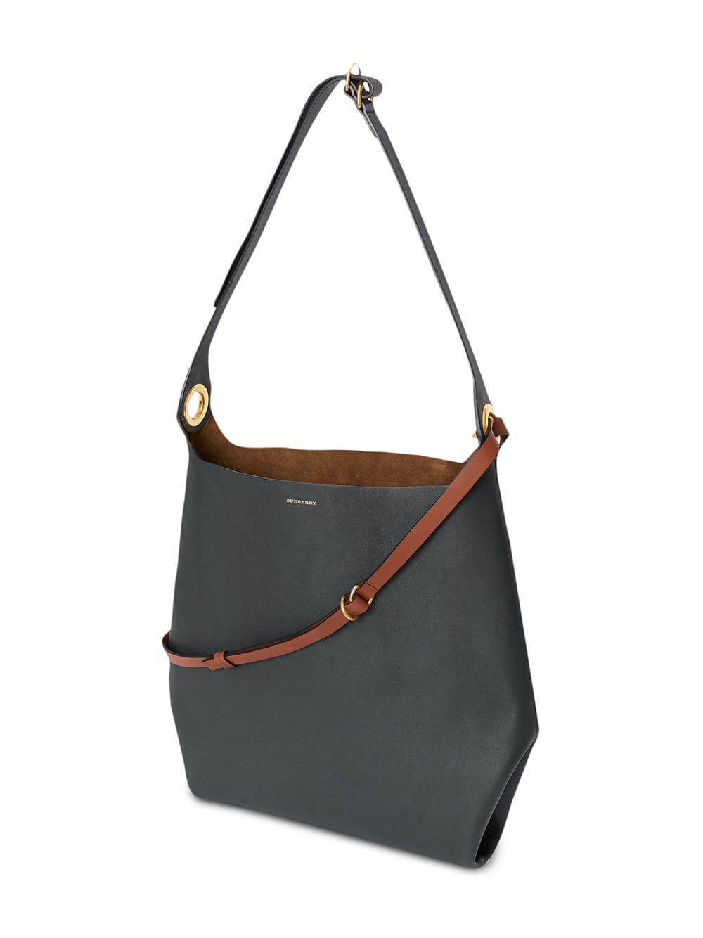 Burberry - Blue The Leather Grommet Detail Bag - Lyst. View fullscreen 0c69f2a67b