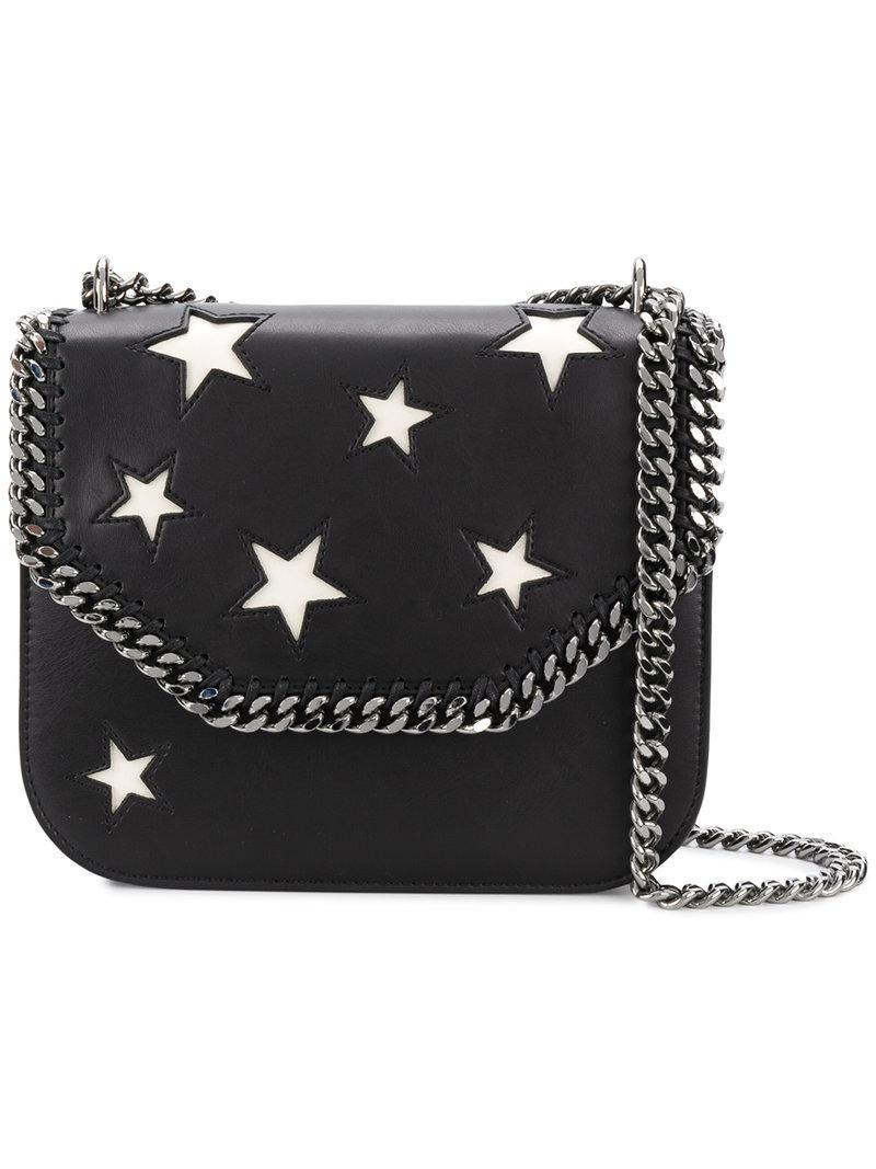 71058a3485 Lyst - Stella McCartney Falabella Box Stars Shoulder Bag in Black ...