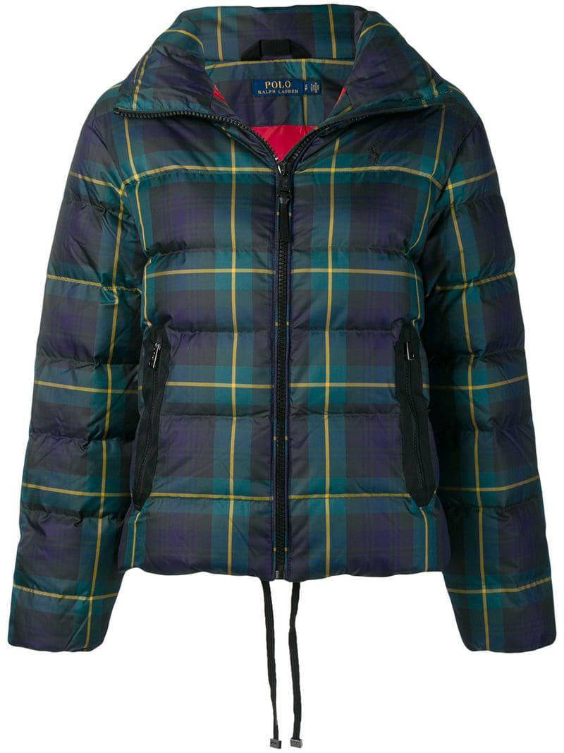 Lyst - Polo Ralph Lauren Plaid Puffer Jacket in Blue 466f90c7ea28c