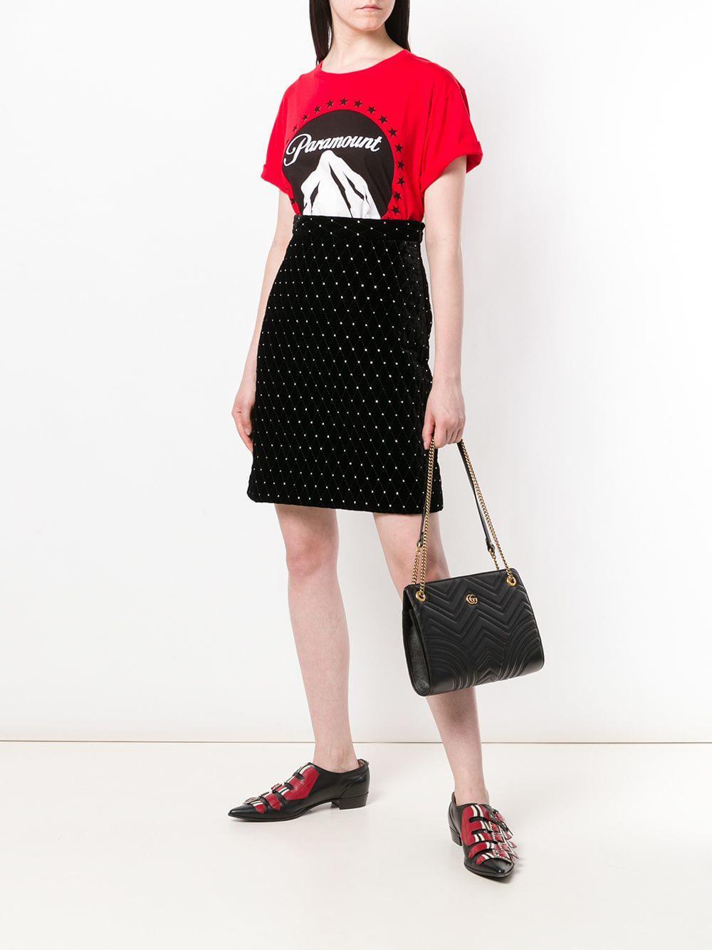 be2f105e57b Lyst - Sac porté épaule matelassé GG Marmont Gucci en coloris Noir
