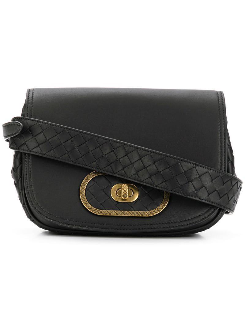 a091267f3031 Lyst - Bottega Veneta Bv Luna Crossbody Bag in Black