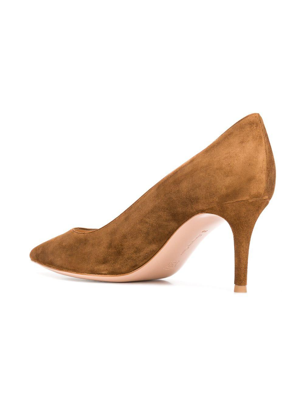 610a1f8ec98b Gianvito Rossi - Brown Pointed Pumps - Lyst. View fullscreen
