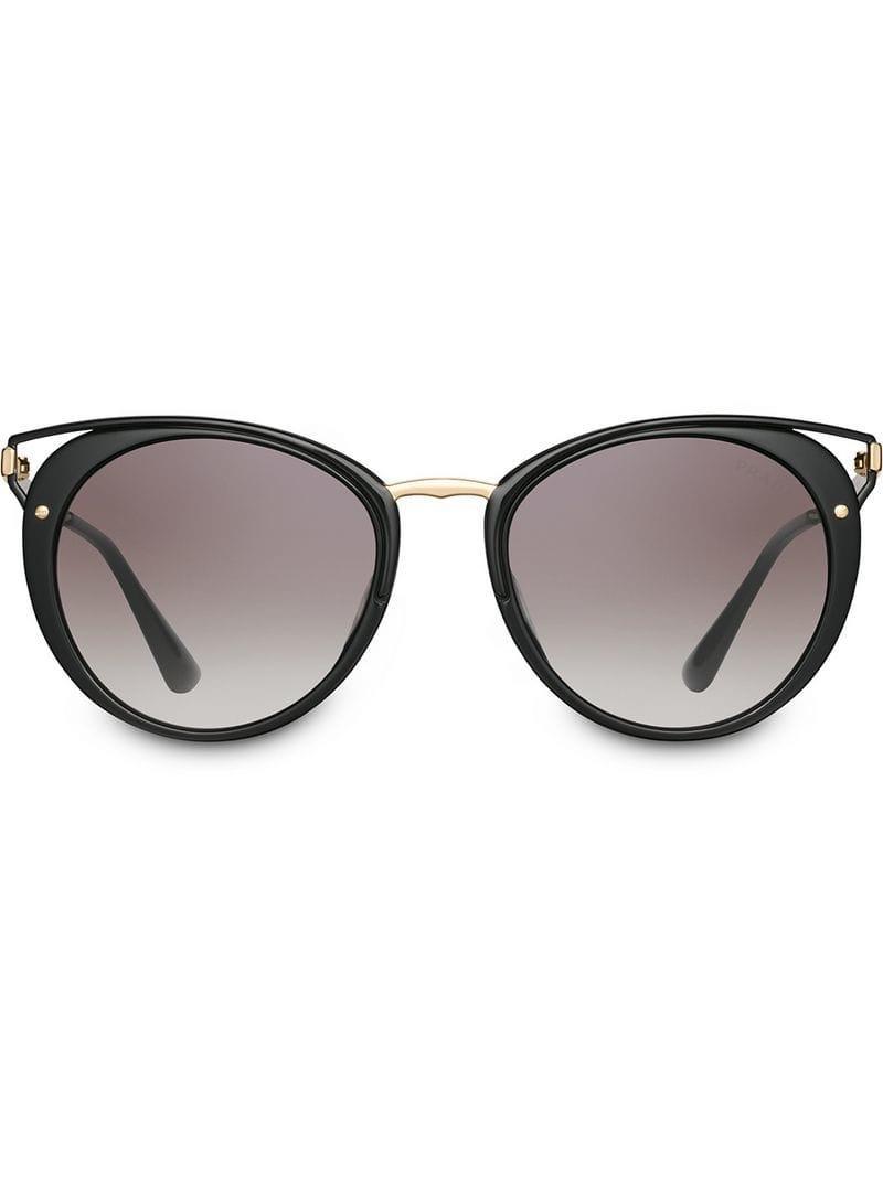 ad3f609bb62 Prada Cinéma Sunglasses in Black - Lyst
