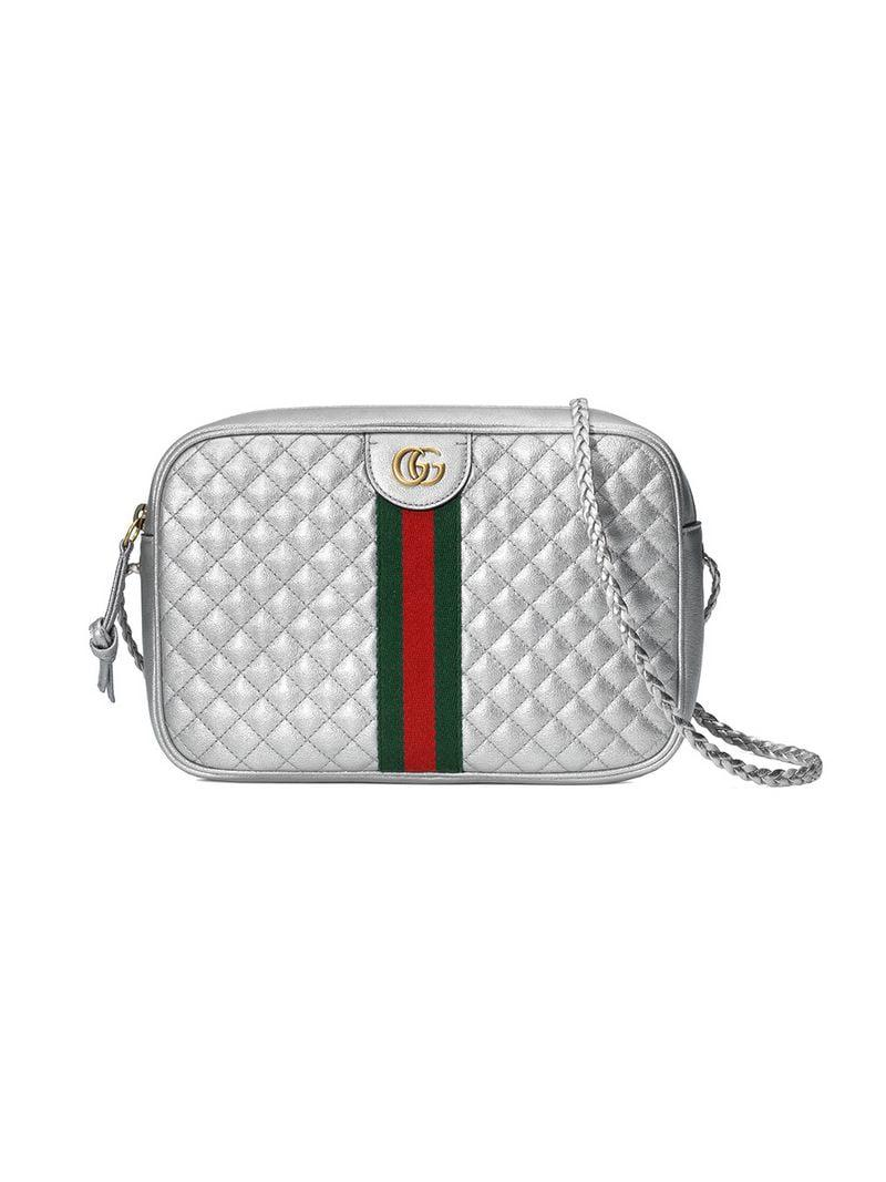 Gucci Laminated Leather Small Shoulder Bag in Metallic - Save ... f8852a253576f