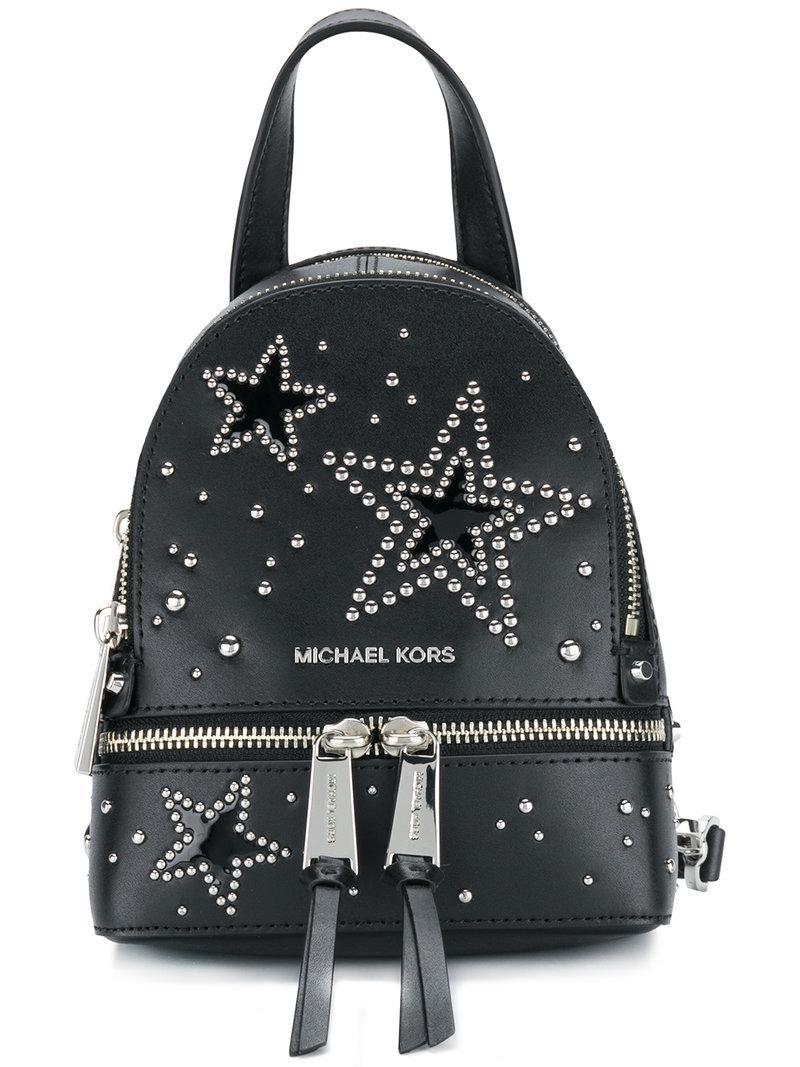 Lyst Michael Michael Kors Rhea Mini Backpack In Black
