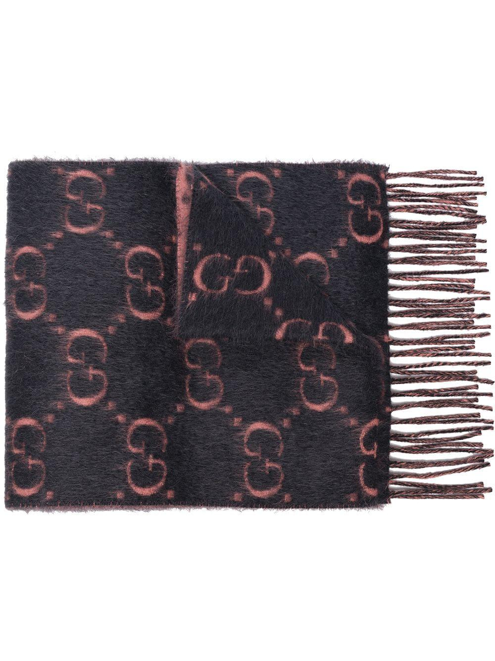 935fa4261d4 Lyst - Gucci Logo Intarsia Scarf