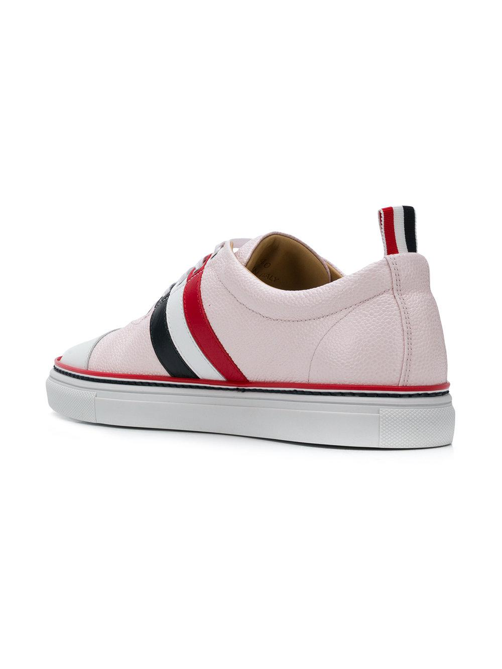 lace-up sneakers - Pink & Purple Thom Browne