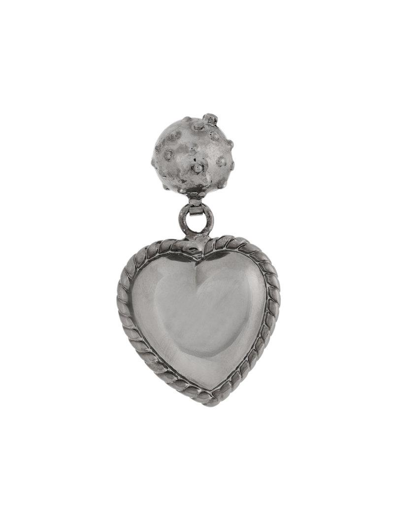 Red Valentino heart shaped earrings - Black HDCht4yR7
