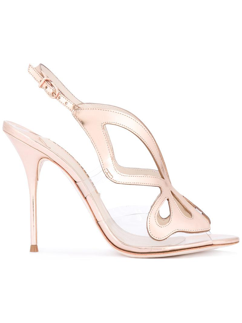 Lyst Sophia Webster Madame Butterfly Sandals In Metallic
