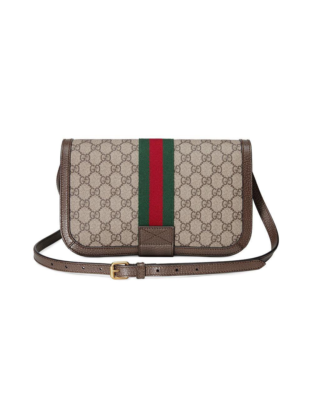 e27e1b4805e3 Gucci Ophidia GG Messenger Bag in Brown - Save 17% - Lyst
