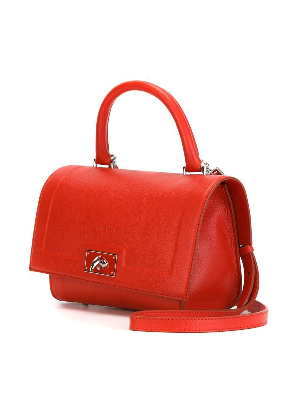e04d84bfd626 Givenchy Shark Small Leather Tote in Red - Lyst