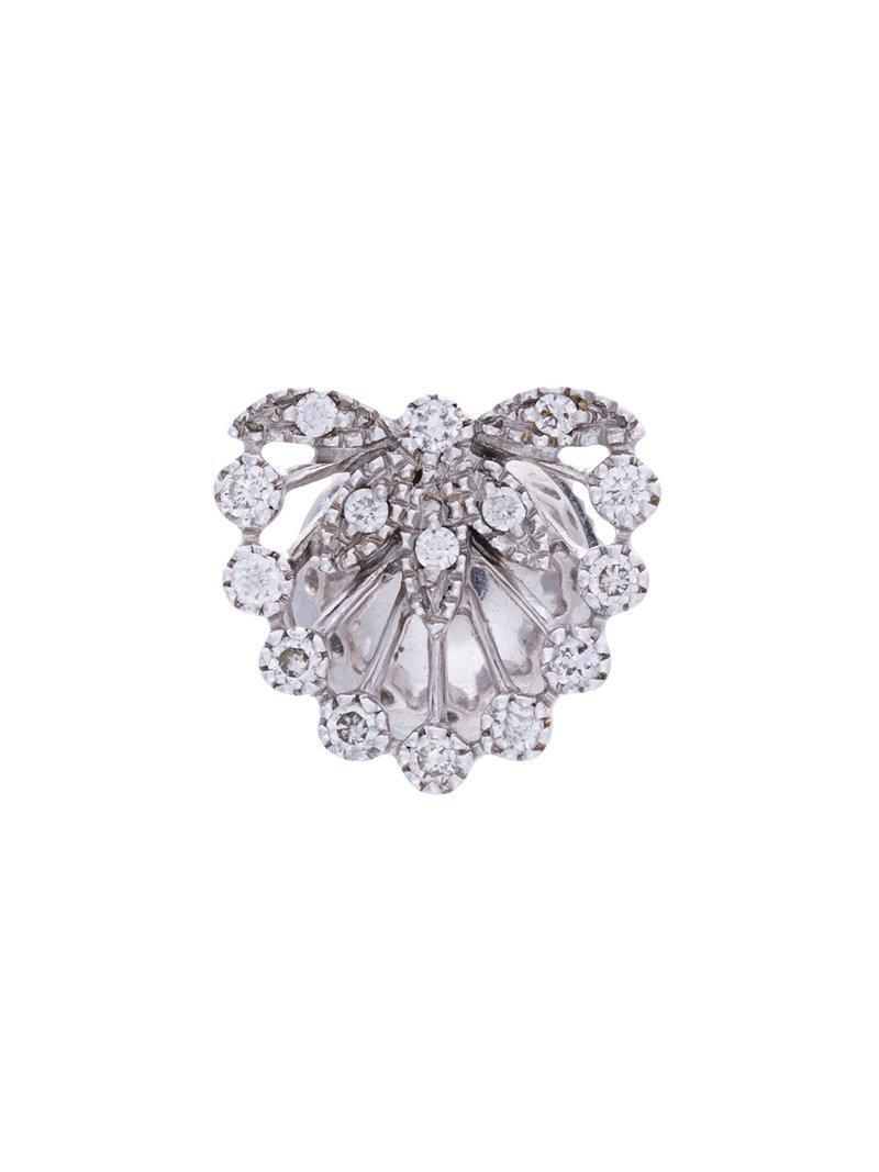 Yvonne Léon Feuillage diamond ear jacket - Metallic KRH2H