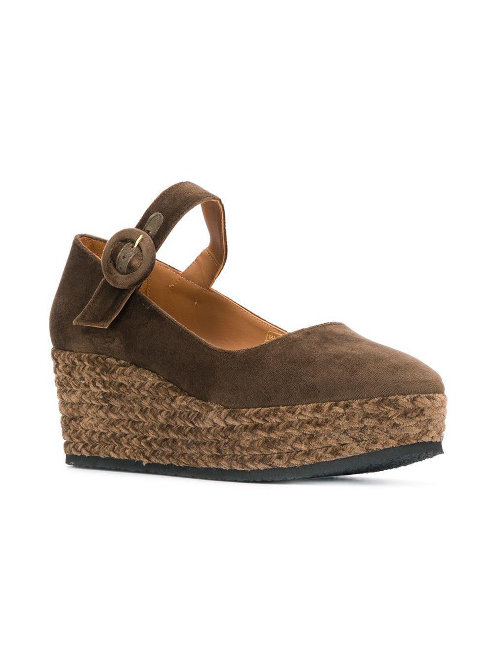 d1a7021f84f Castaner - Brown Wedge Sandals - Lyst. View fullscreen