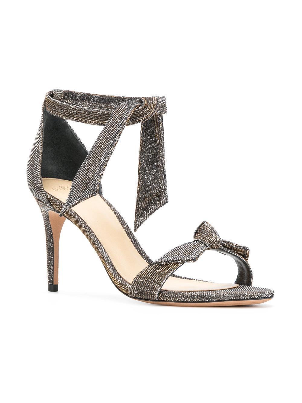 glitter high heel sandals - Metallic Alexandre Birman hcaq1Sg