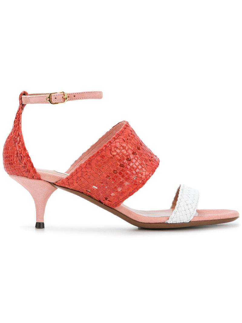 For Sale Top Quality L Autre Chose Woven detail kitten heels Low Price Fee Shipping Online e9CLES