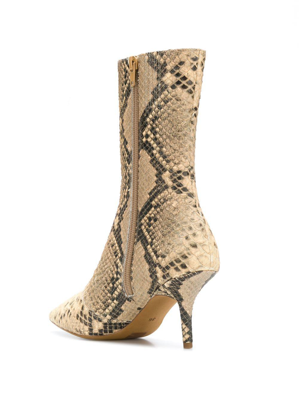 6241c8dd357 Yeezy Snake Pattern Boots in Natural - Lyst