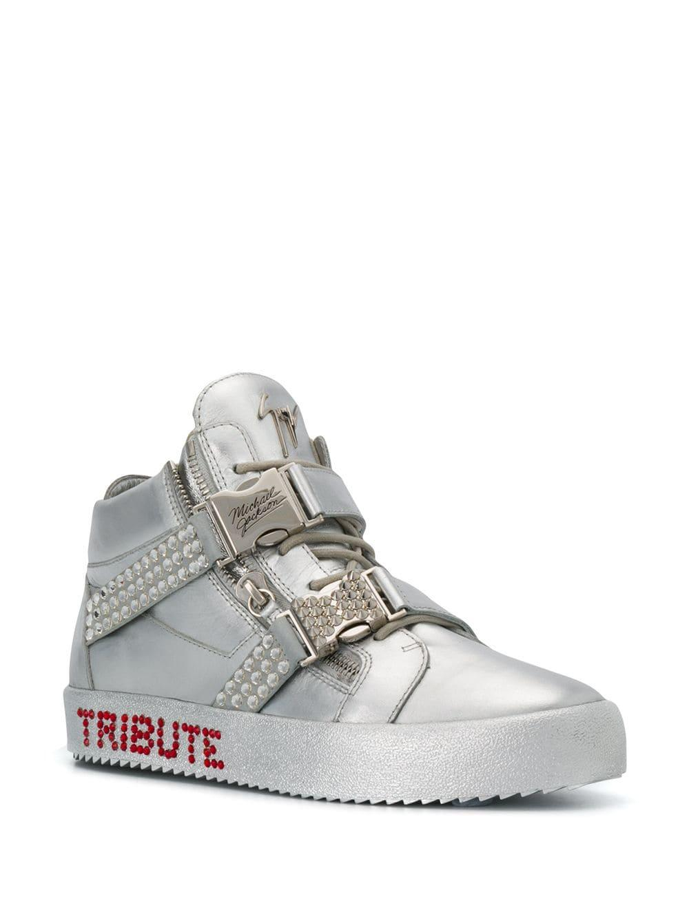 b221c5ae8f4c6 Giuseppe Zanotti Tribute High Sneakers in Metallic for Men - Save 18% - Lyst