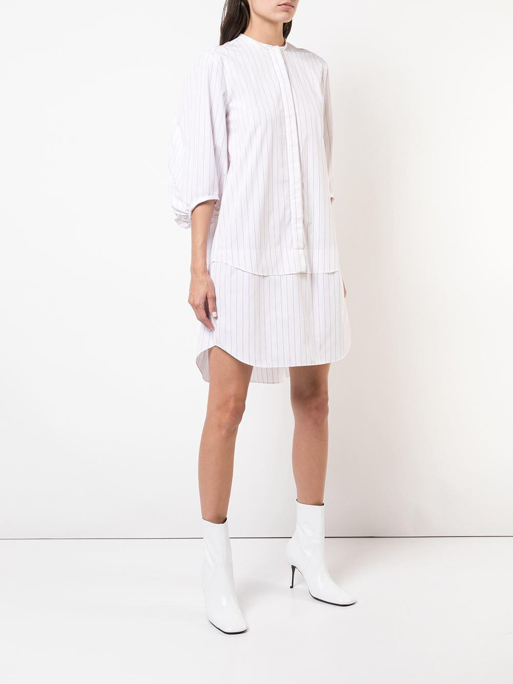 8df7019d9647b Maison Rabih Kayrouz - White Striped Poplin Dress - Lyst. View fullscreen