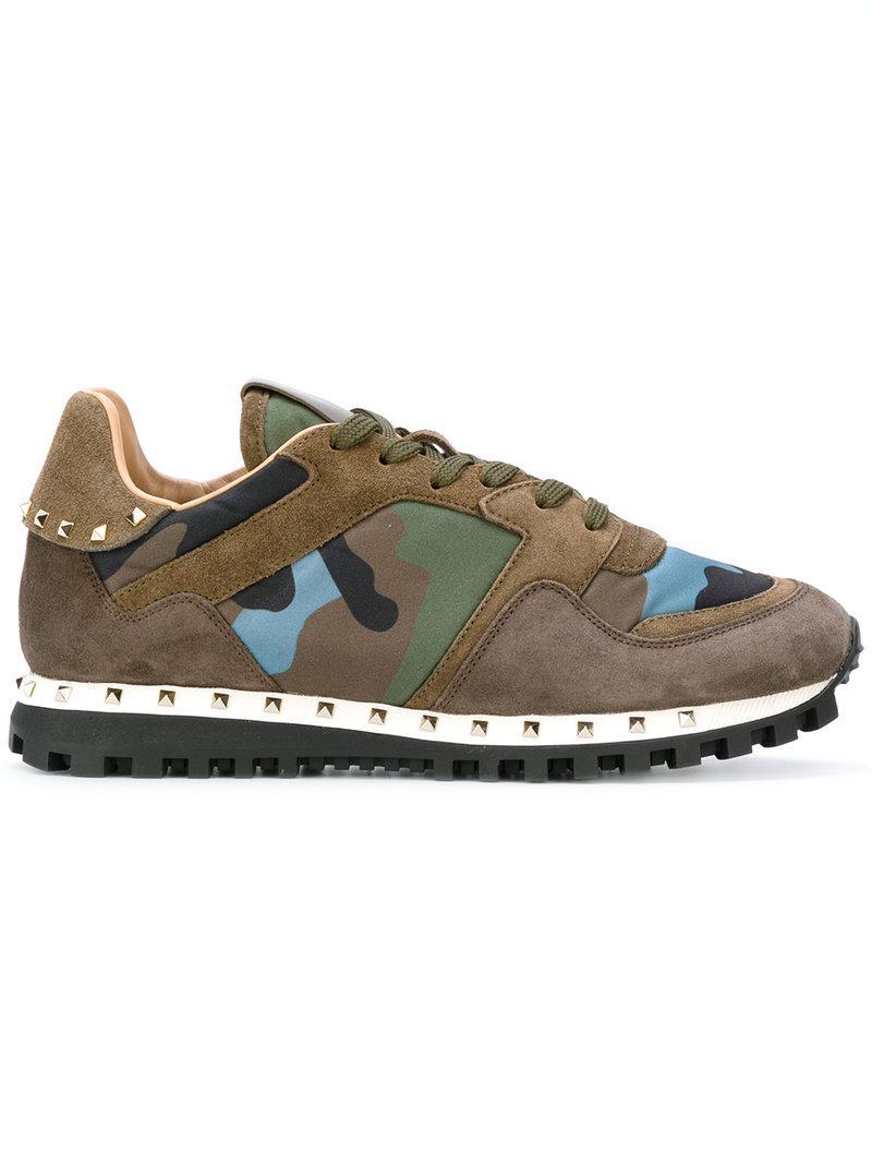 Lyst - Valentino Garavani Camouflage Sneakers