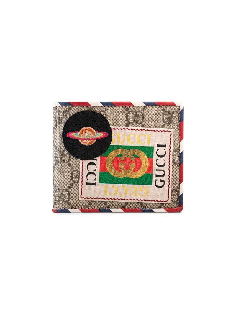 f55b983900b Gucci - Natural Beige Courrier GG Supreme Canvas Wallet for Men - Lyst.  View fullscreen