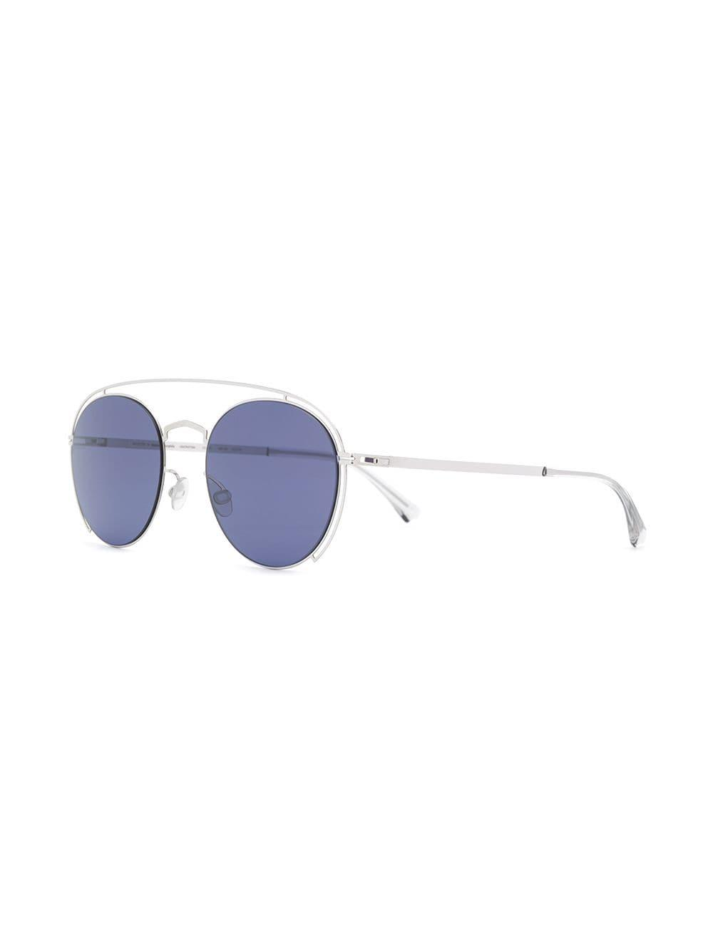 91fd63eccde Mykita Round Tinted Sunglasses in Metallic - Lyst
