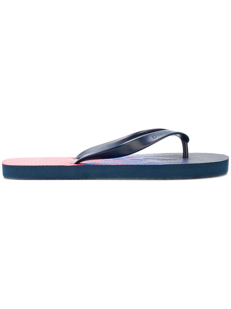389a14948d83 DIESEL Sa-nihhao Flip Flops in Blue for Men - Lyst
