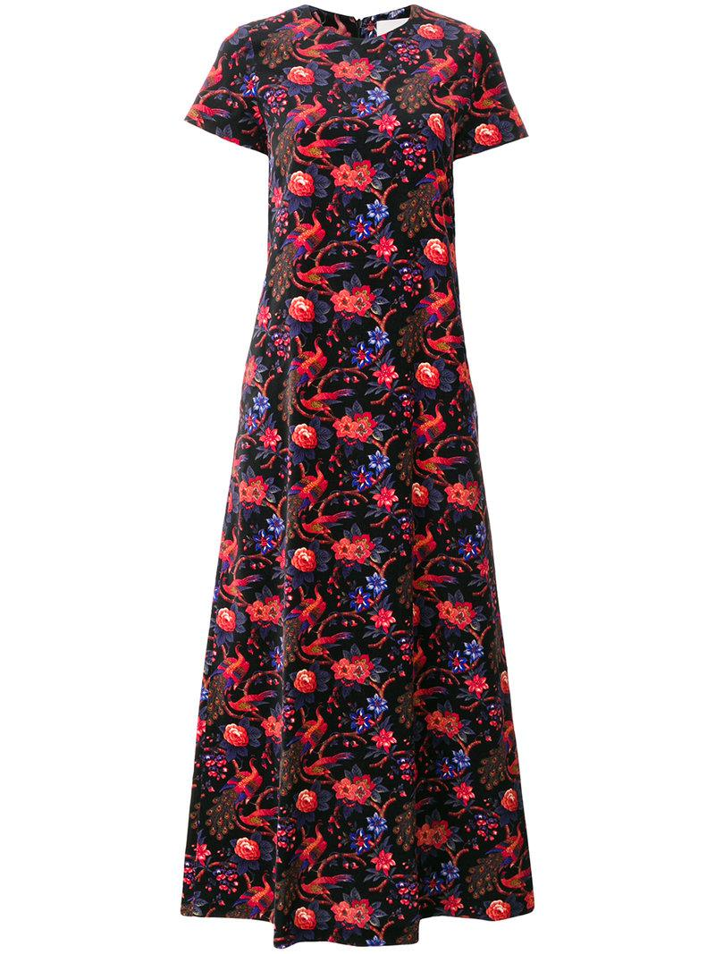 La Doublej Velvet Pavone Nero swing dress Ebay Sale Online Inexpensive Buy Cheap Real Clearance Good Selling Marketable Online 2L9E6