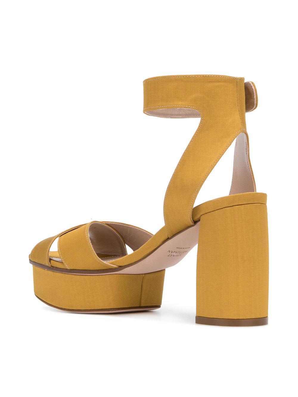 d91025c3fe3 Stuart Weitzman Carmina Platform Sandals in Metallic - Lyst