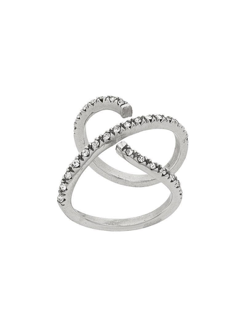 twisted ring - Metallic Federica Tosi Cb78xszJxt