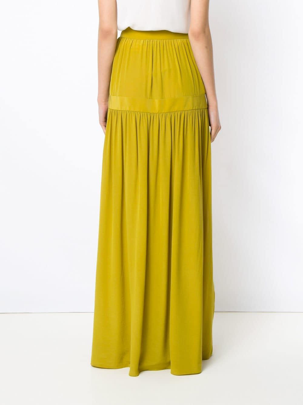 da4a825f52 Adriana Degreas - Yellow Silk Maxi Skirt - Lyst. View fullscreen