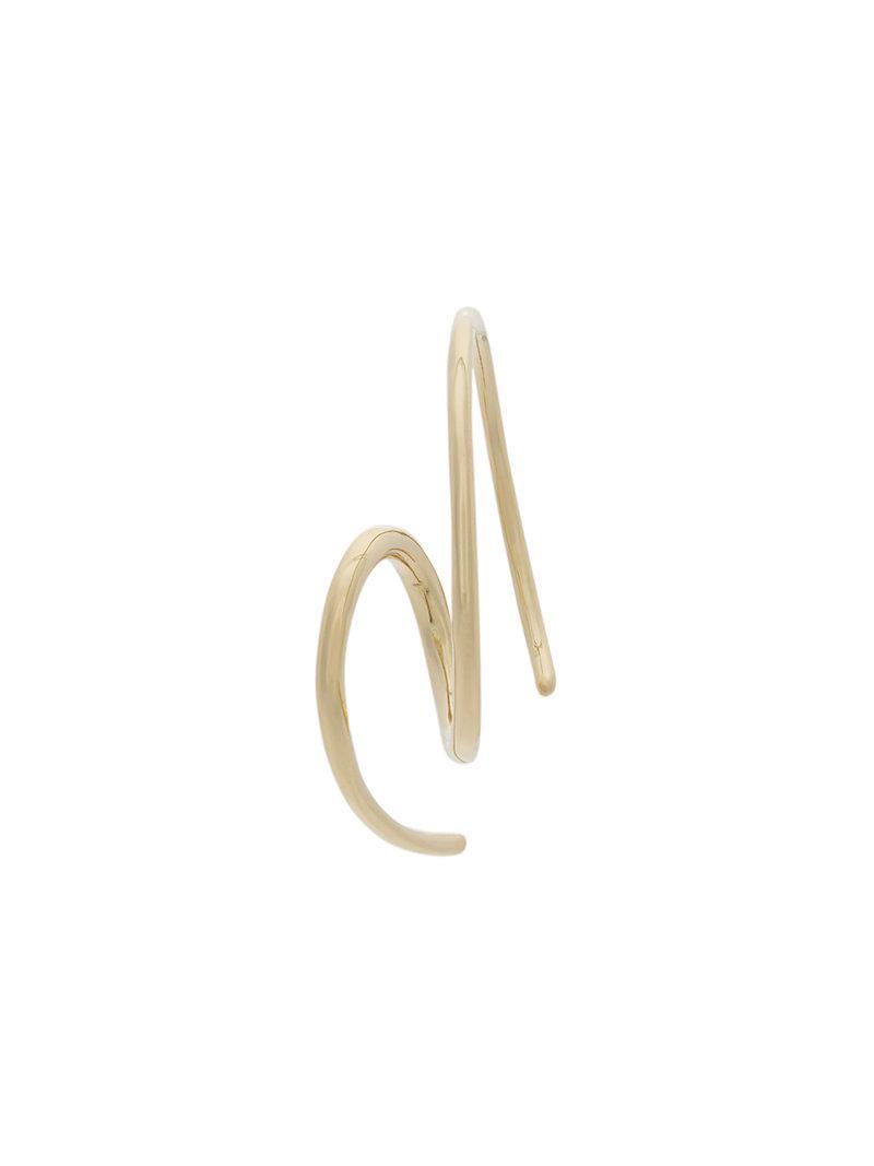 Maria Black Racer Nude 14-karat Gold Earring SwSaie