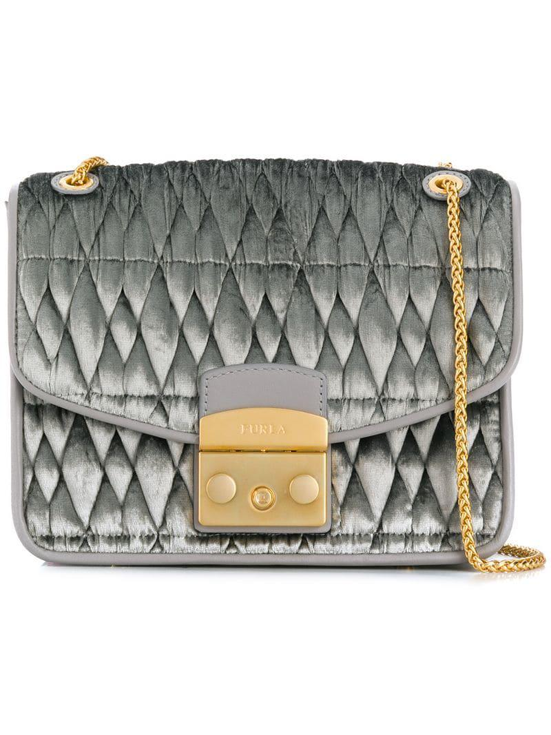 Furla Metropolis Quilted Shoulder Bag in Gray - Lyst e75f7235b6636