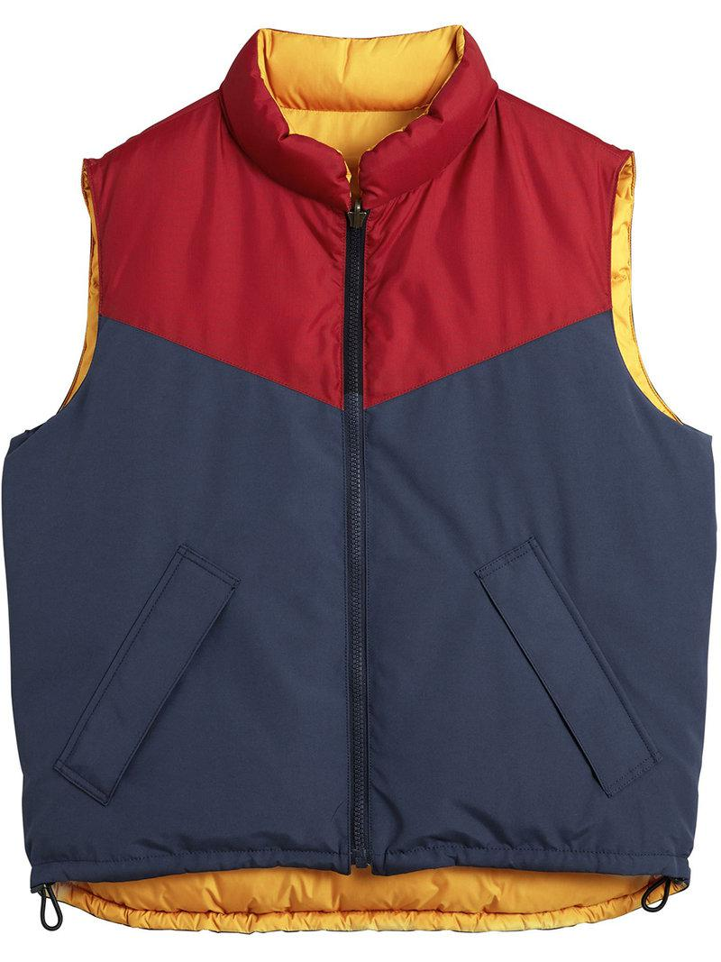 24ed9a561fe2 Lyst - Burberry Colour-block Reversible Gilet in Blue for Men - Save 34%