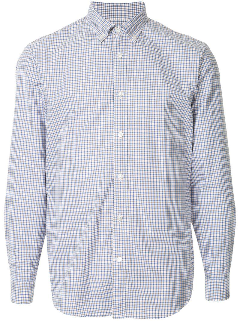 Good Selling Online Great Deals Cheap Online plaid fitted shirt - Blue Gieves & Hawkes Cheap Discount With Paypal Sale Online WzIArObD1k