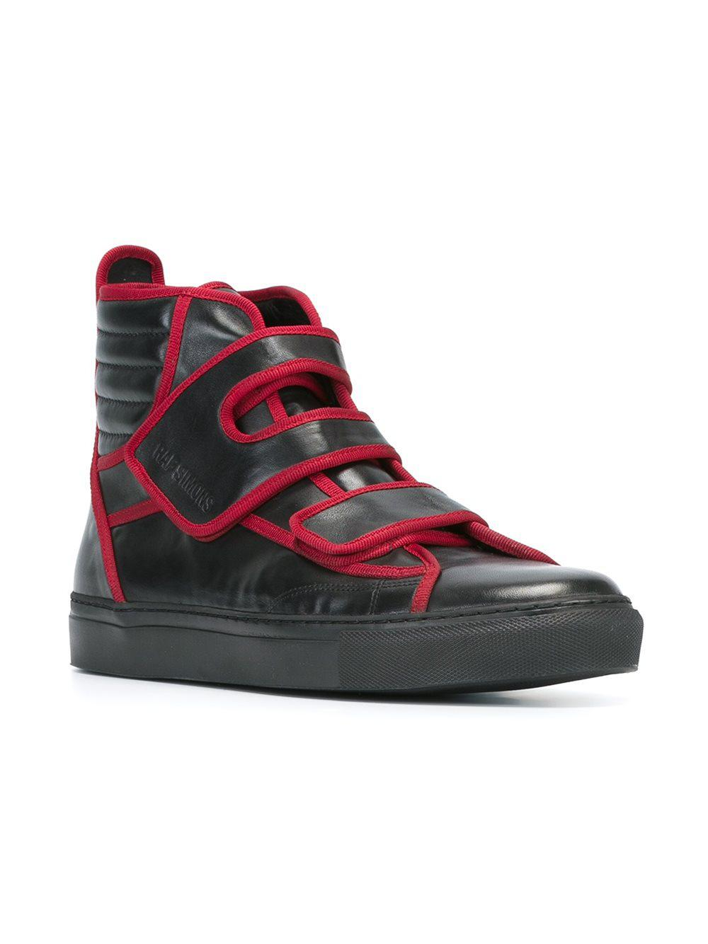 separation shoes 5a2f9 cf0fa Lyst - Raf Simons Trimmed High-Tops in Black for Men