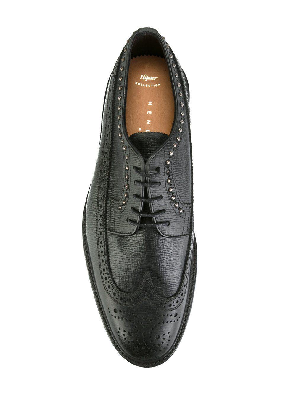studded Derby shoes - Black Henderson Baracco ar6vU2