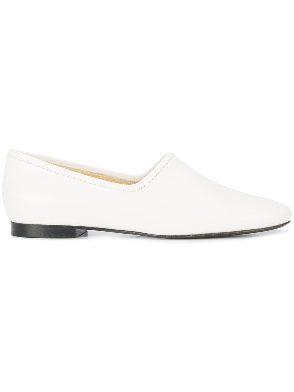 a9efa7d5c14 Lyst - Lemaire Round Toe Slip-on Pumps in Black