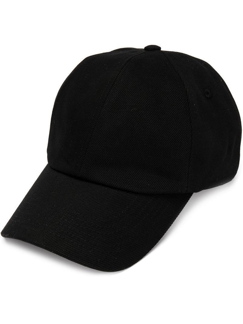 4b43f7ea939 CALVIN KLEIN 205W39NYC Ok Logo Denim Cap in Black for Men - Lyst