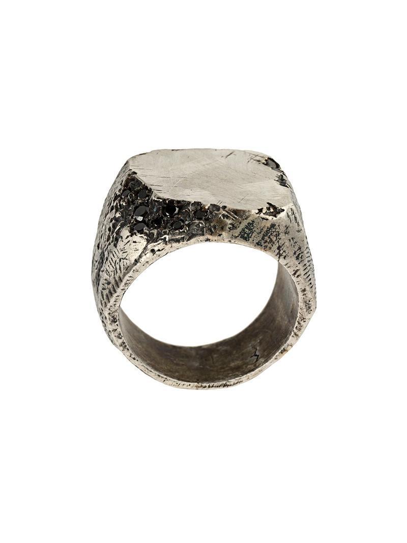 Tobias Wistisen wide mosaic ring - Metallic FlUODkMq7