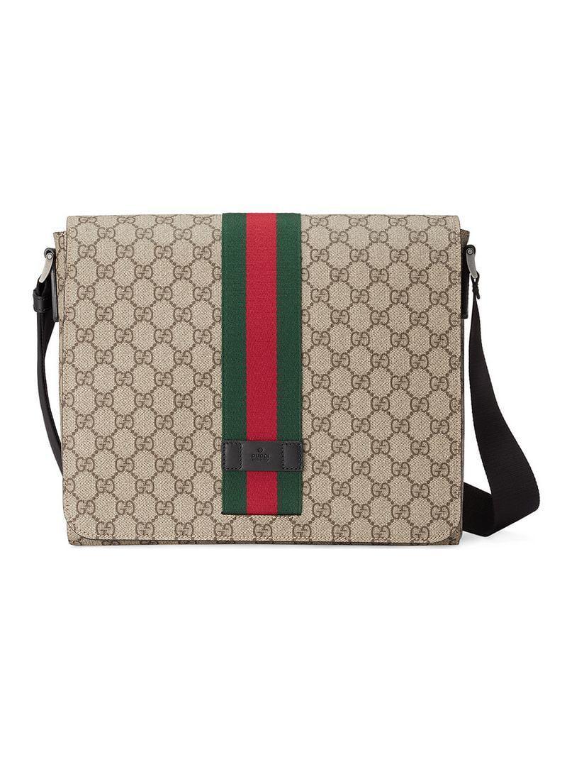 baea4099f1f3 Gucci GG Supreme Messenger Bag for Men - Save 13% - Lyst